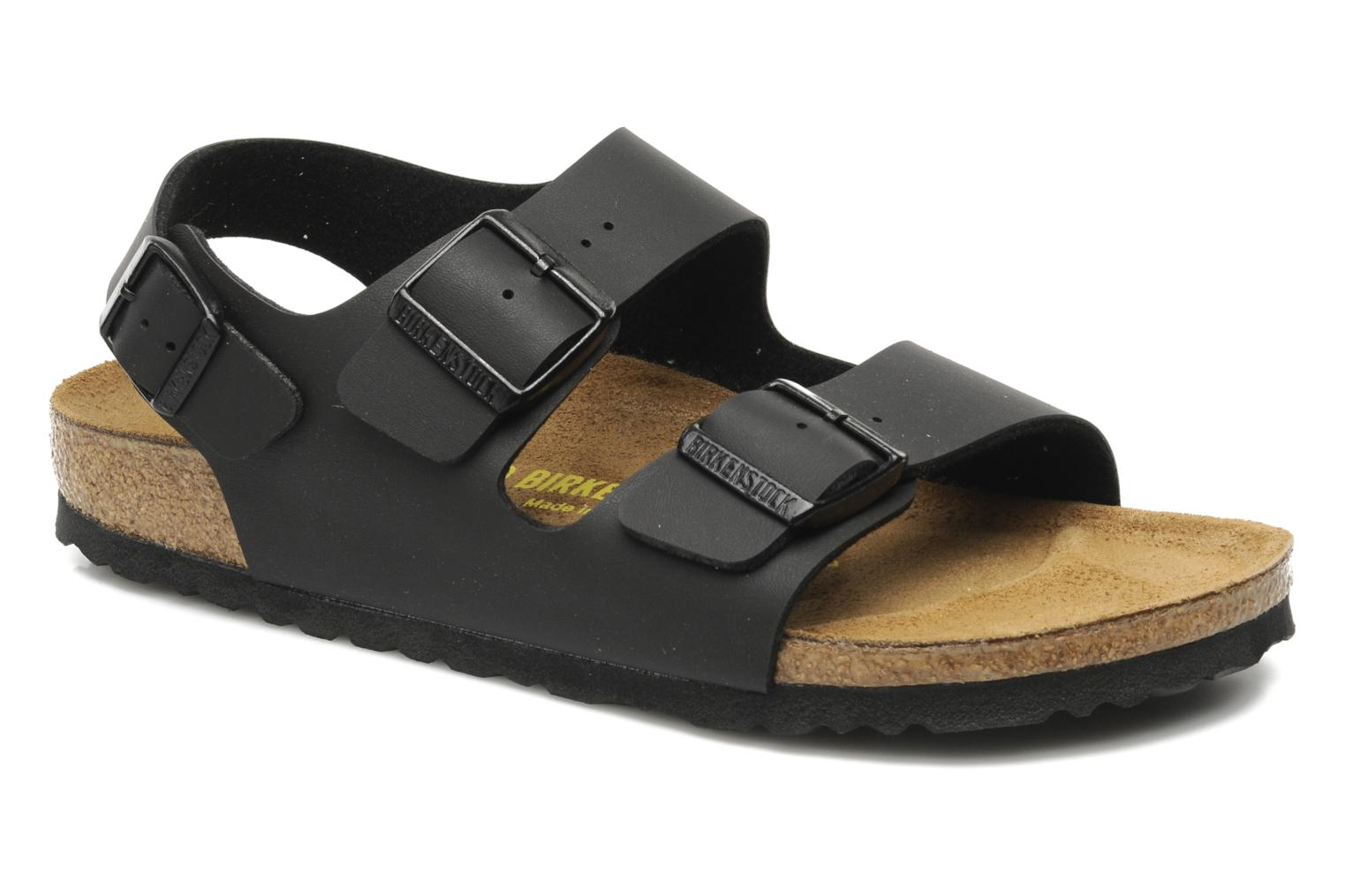 birkenstock milano sandals in black at 134587