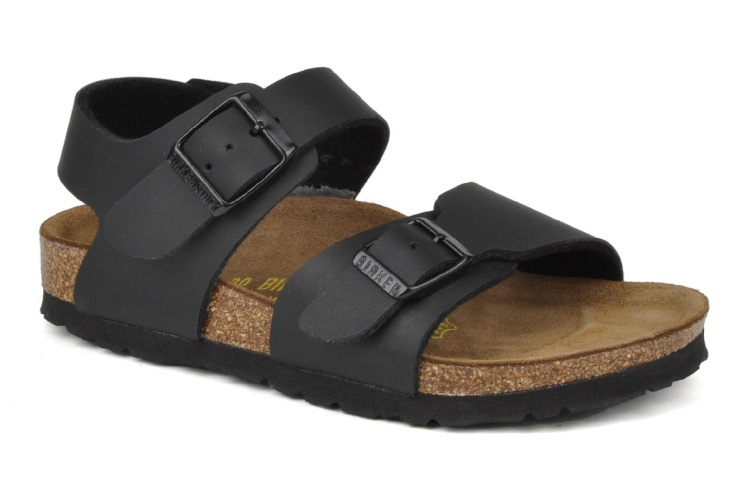 birkenstock new york flor e sandals in black at