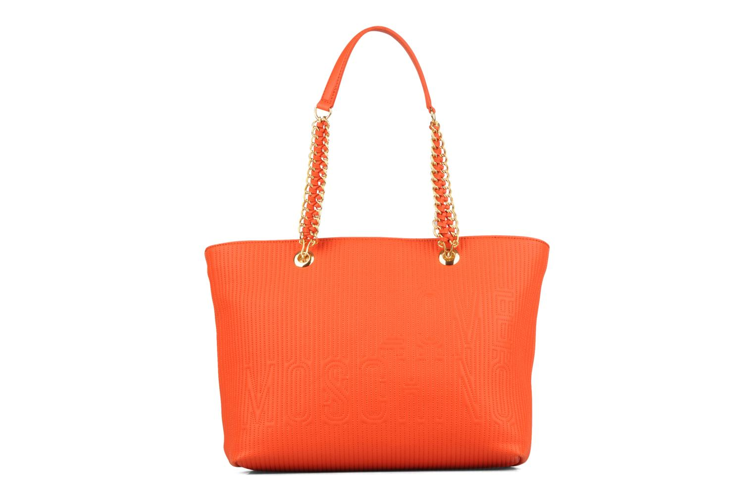 love moschino mosquilted small shopper handbags in orange at 50891. Black Bedroom Furniture Sets. Home Design Ideas