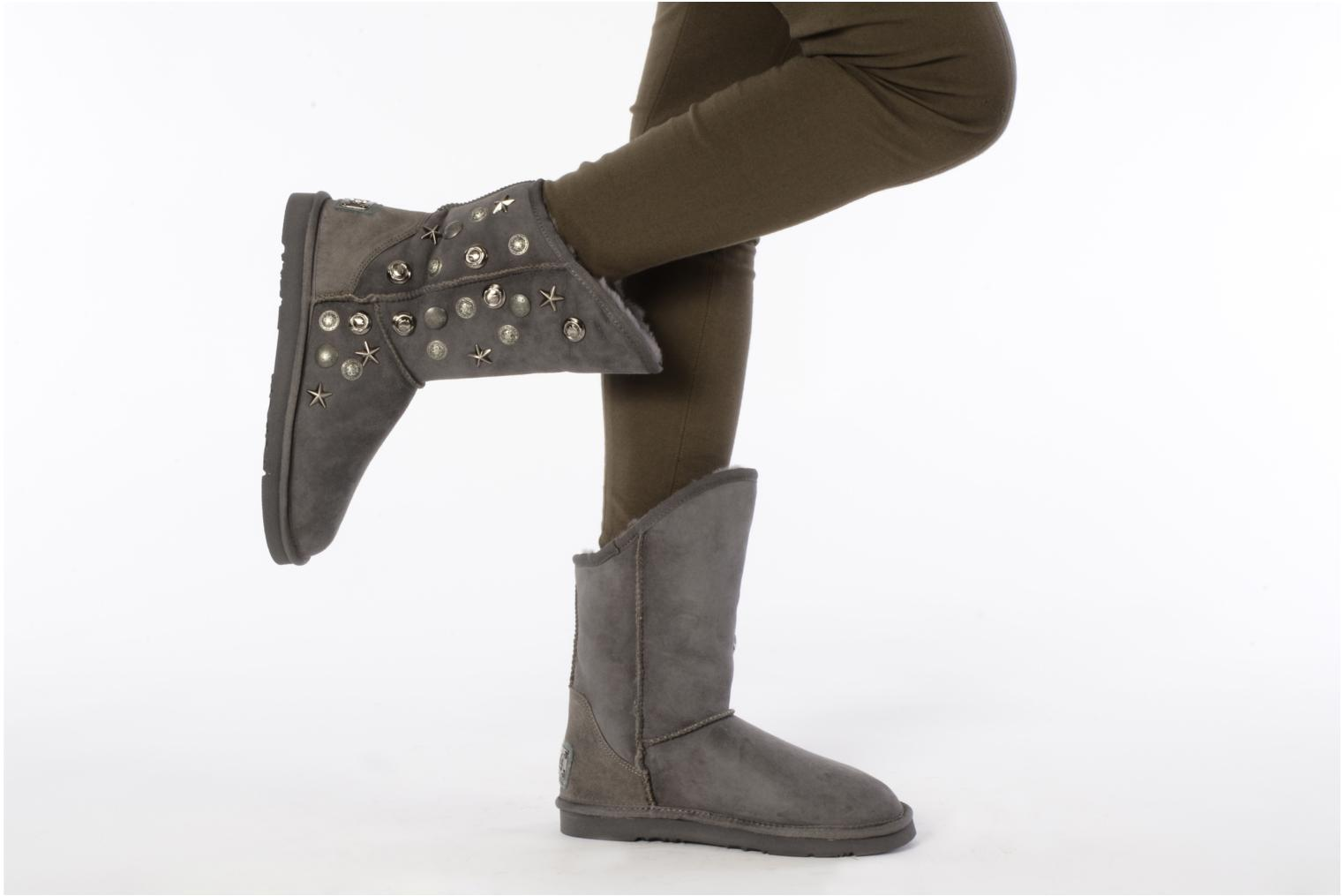 australia luxe collective angel short ankle boots in grey. Black Bedroom Furniture Sets. Home Design Ideas