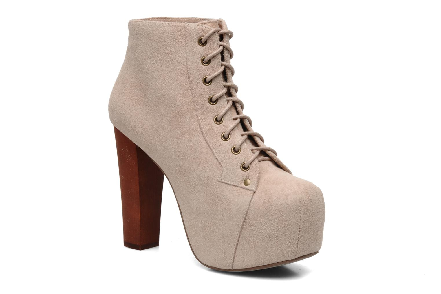 jeffrey campbell lita ankle boots in beige at 117459. Black Bedroom Furniture Sets. Home Design Ideas