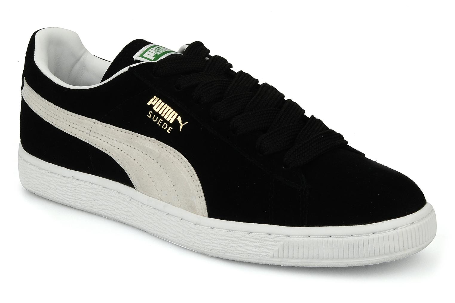 puma suede classic trainers in black at. Black Bedroom Furniture Sets. Home Design Ideas