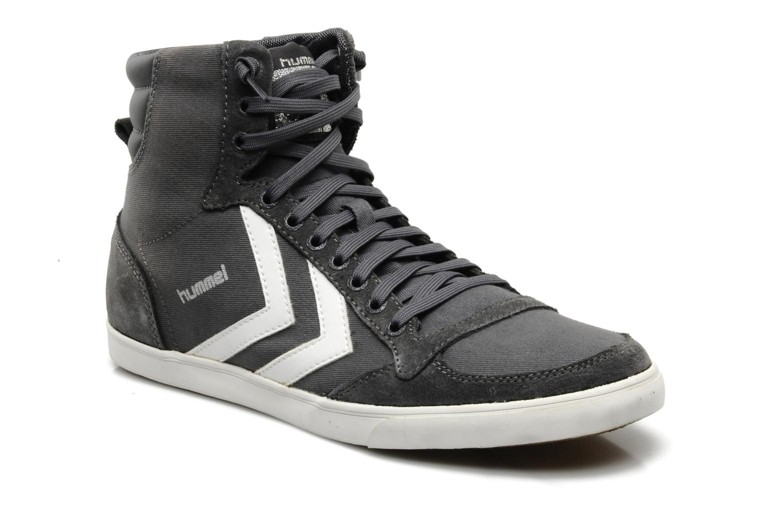 hummel slimmer stadil high canvas trainers in grey at
