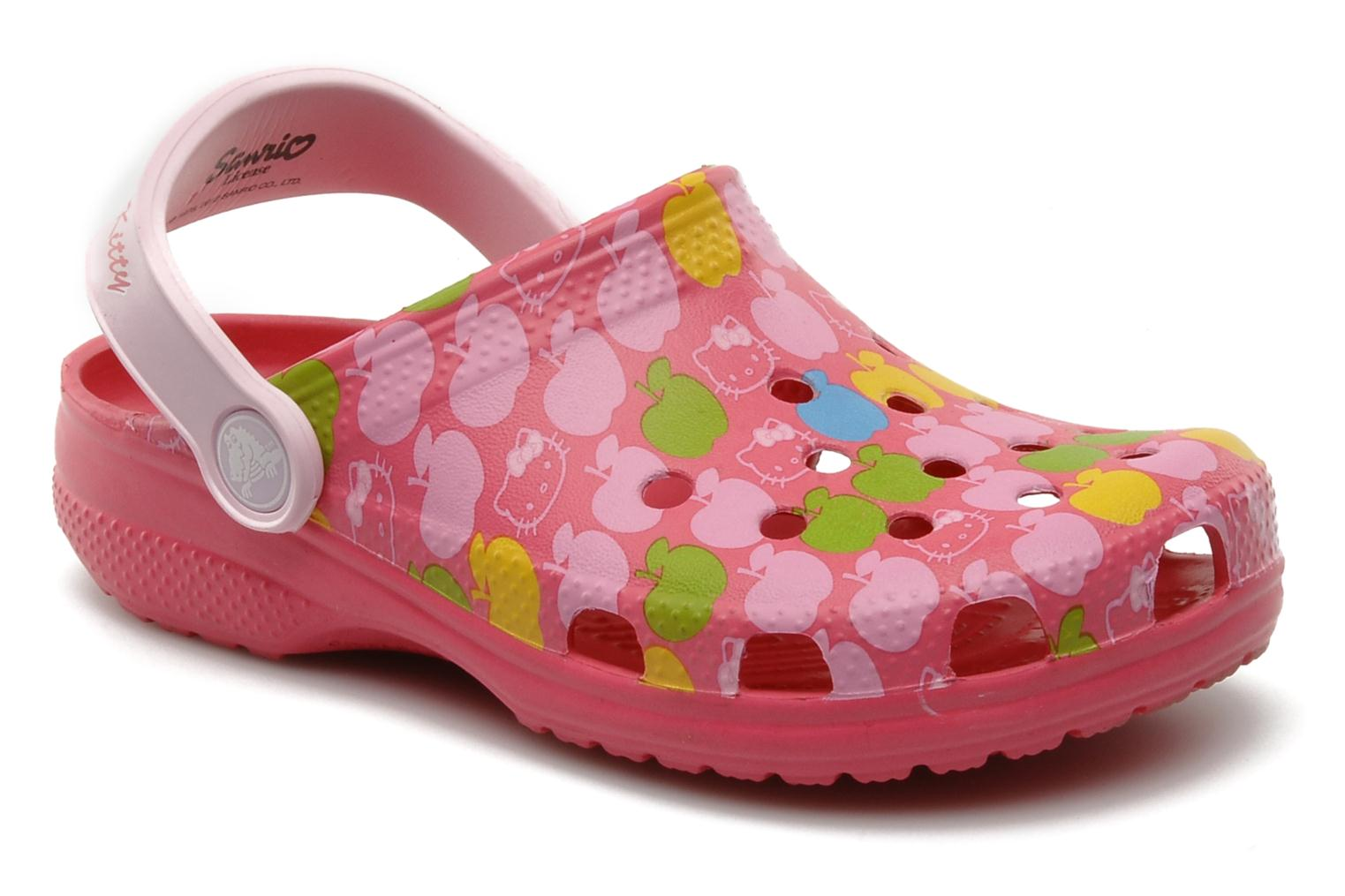 Crocs Classic Kids Hello Kitty Apples Eu Sandals in Pink at Sarenza co uk (90