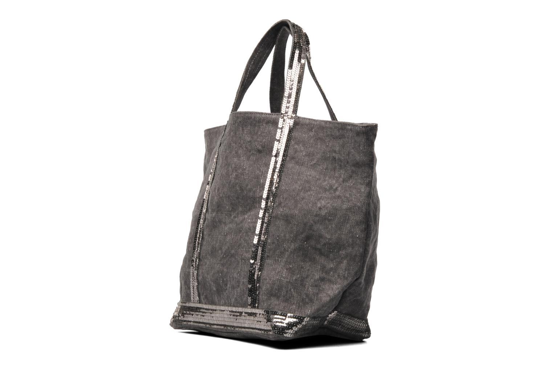 Vanessa bruno cabas lin paillettes m gris sacs main - Paillette de lin ...