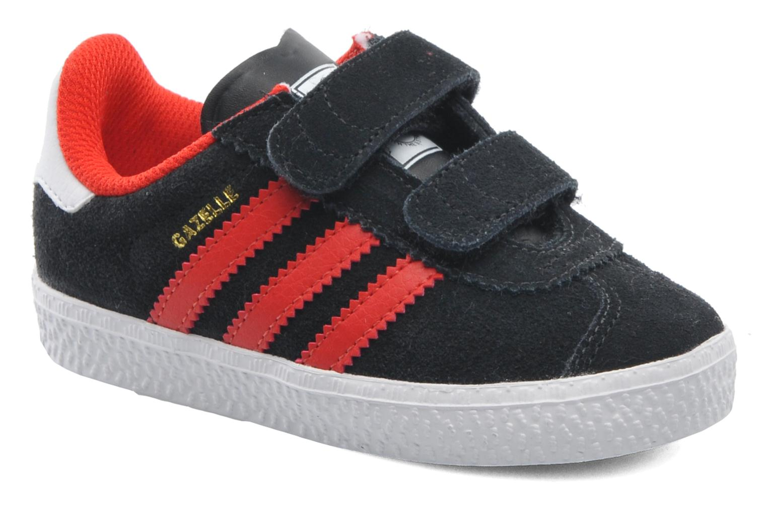 Adidas Gazelle 2 White/Black Leather Trainers