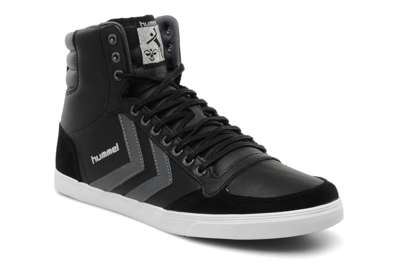 hummel slimmer stadil high leather zwart sneakers bij. Black Bedroom Furniture Sets. Home Design Ideas