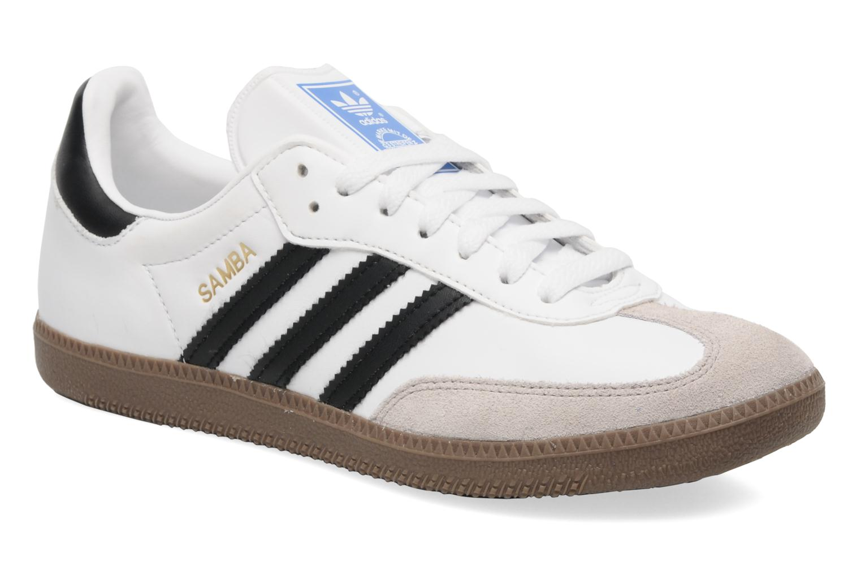 adidas originals samba trainers in white at. Black Bedroom Furniture Sets. Home Design Ideas