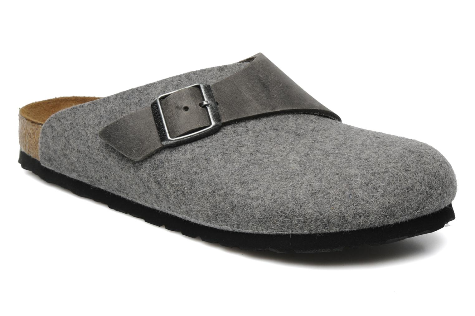 birkenstock basel w gris mules et sabots chez sarenza 118502. Black Bedroom Furniture Sets. Home Design Ideas