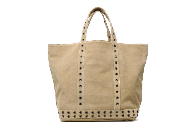 vanessa bruno cabas cuir velours illets l handbags in beige at 118903. Black Bedroom Furniture Sets. Home Design Ideas