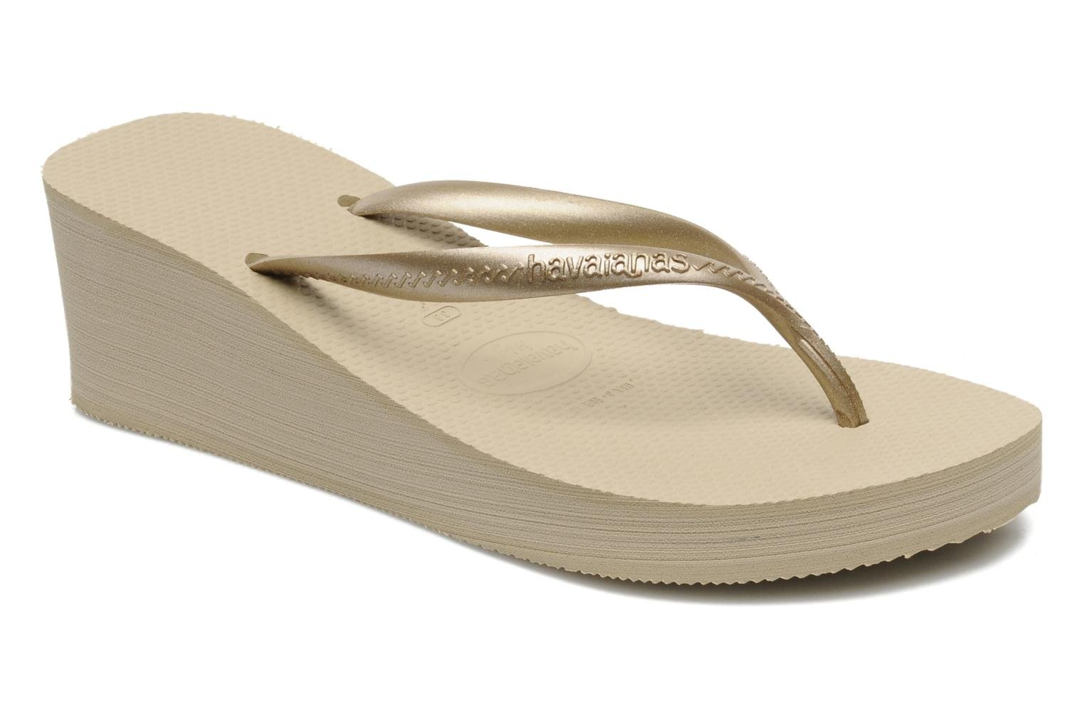Havaianas High Fashion Flip Flops In Bronze And Gold At