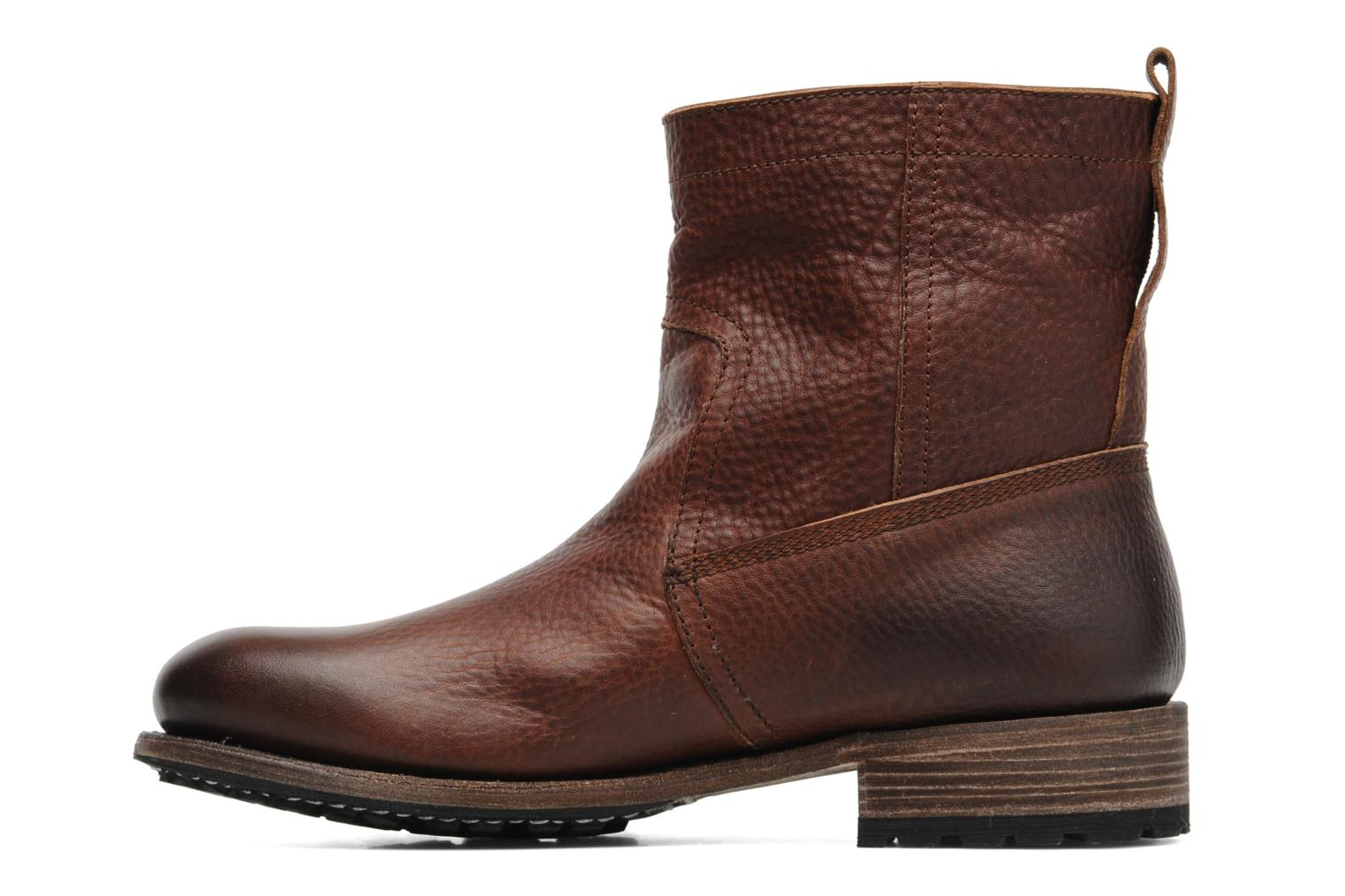 blackstone fireman boot ankle boots in brown at sarenza co