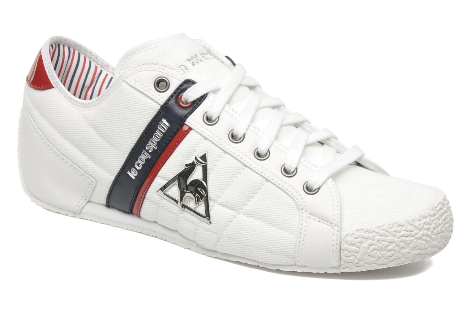 le coq sportif escrime denim trainers in white at 171887. Black Bedroom Furniture Sets. Home Design Ideas