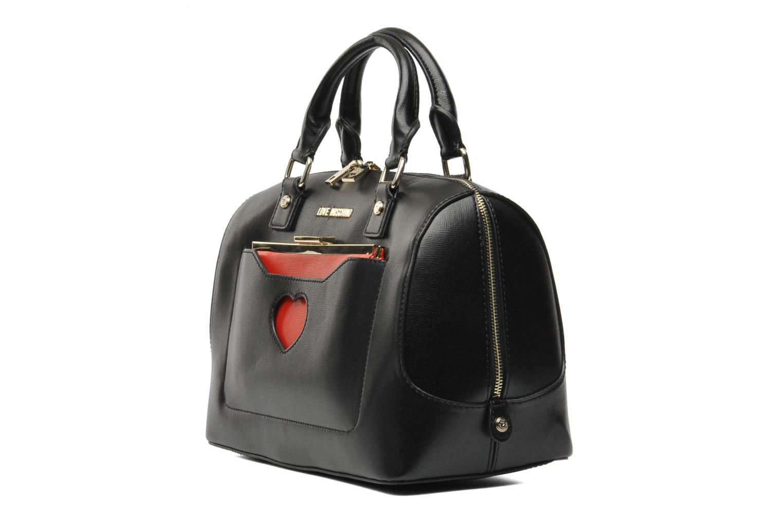 love moschino peace love bowling handbags in black at 186277. Black Bedroom Furniture Sets. Home Design Ideas
