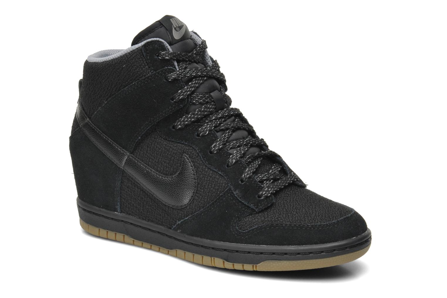 watch d658b b3eda ... High Command Nike Dunk Sky e di alta nero grigio 49Hldzulwa Do note  that there may be a 1-2cm difference in measurements depending on how ...