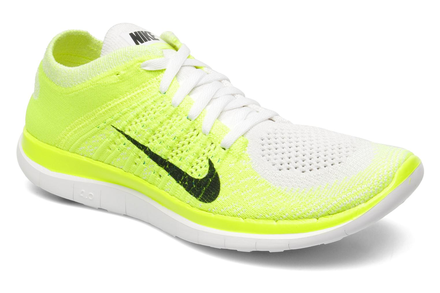 nike wmns nike free 4 0 flyknit sport shoes in yellow at 206984. Black Bedroom Furniture Sets. Home Design Ideas