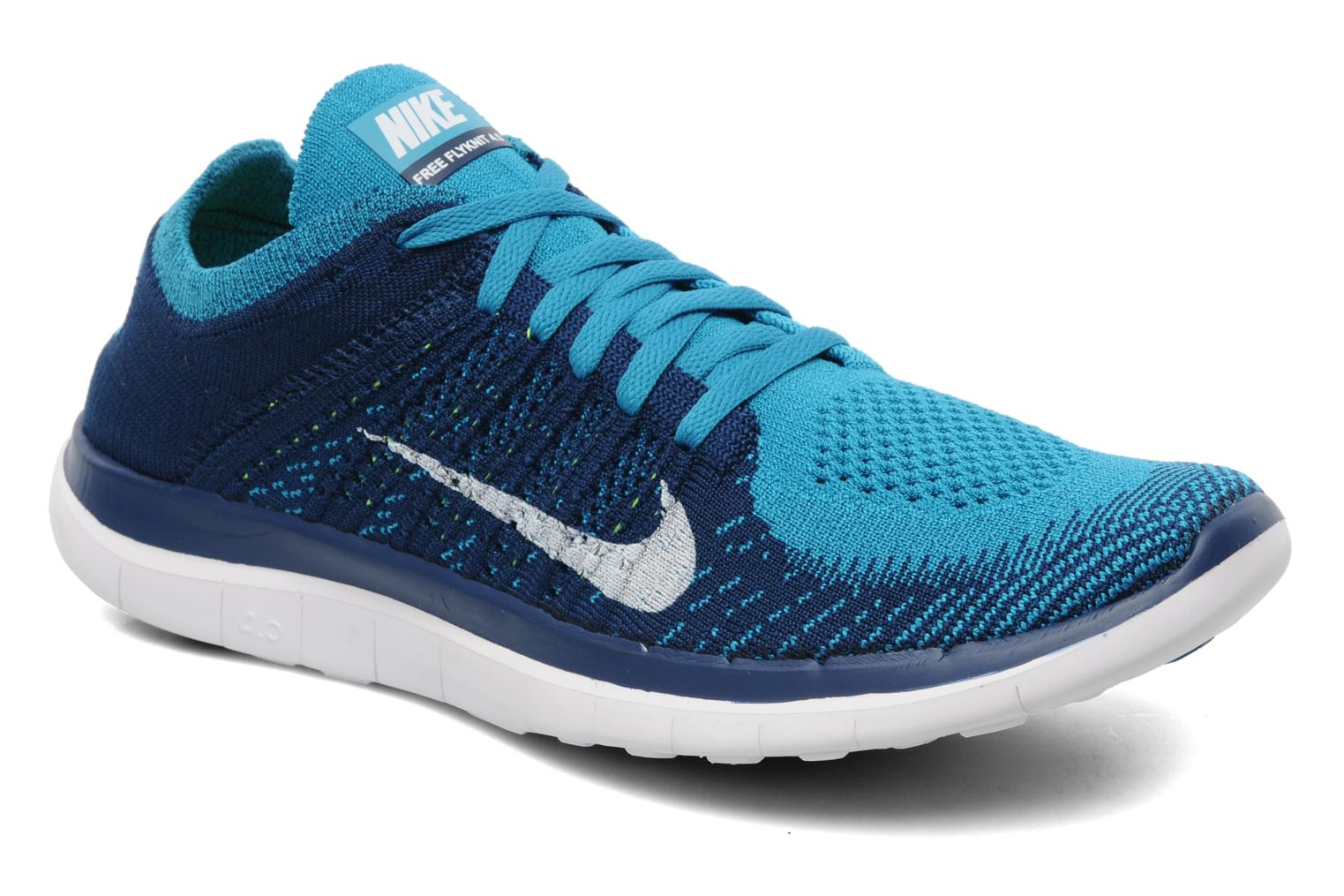 nike nike free 4 0 flyknit sport shoes in blue at 186749. Black Bedroom Furniture Sets. Home Design Ideas