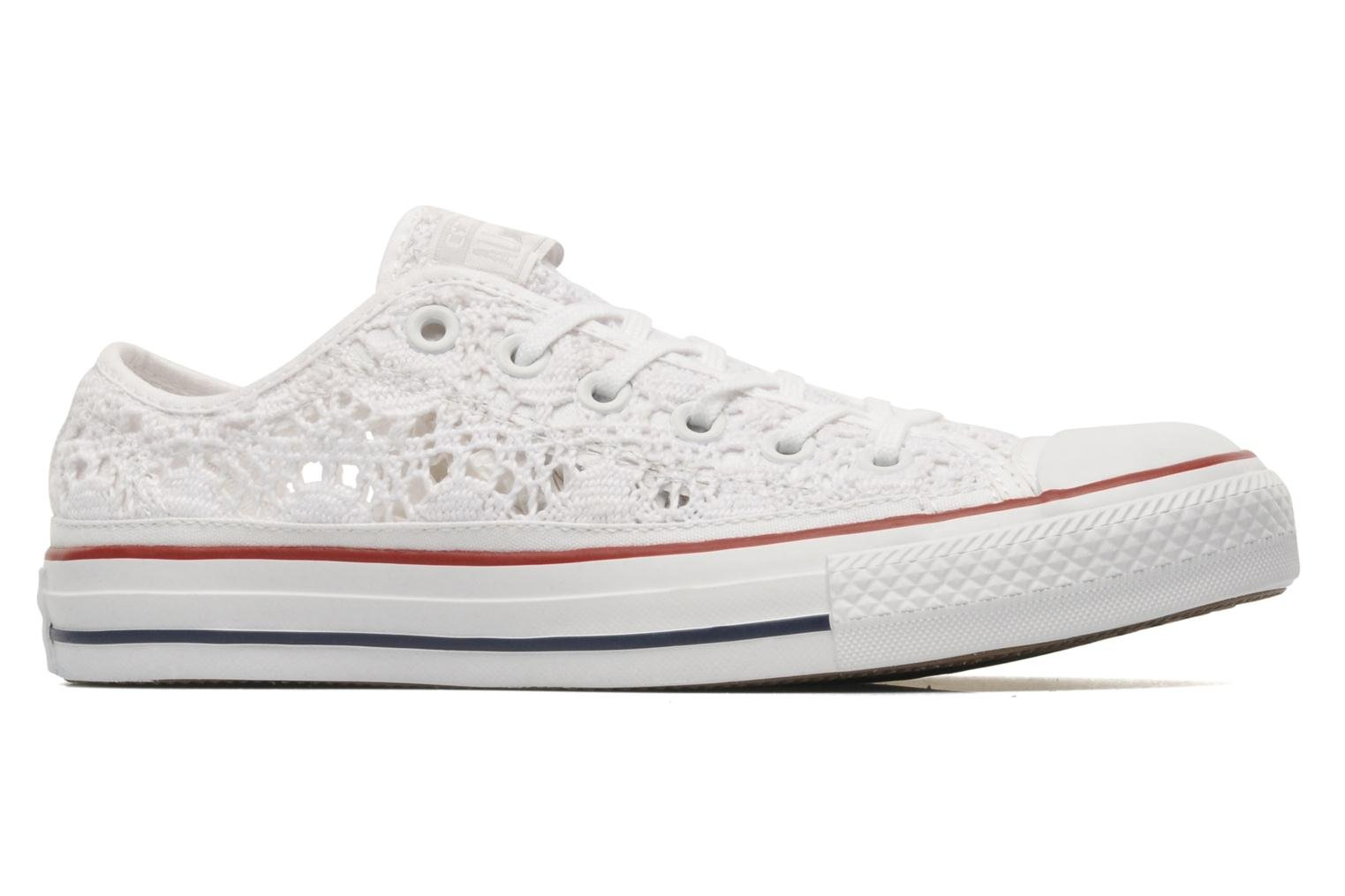 converse chuck taylor all star crochet ox w trainers in white at 212833. Black Bedroom Furniture Sets. Home Design Ideas