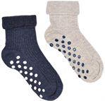 Sarenza Wear Chaussons-chaussettes Pack de 2 bebe antiderapant