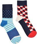 Happy Socks 2-Pack Filled Optic Socks