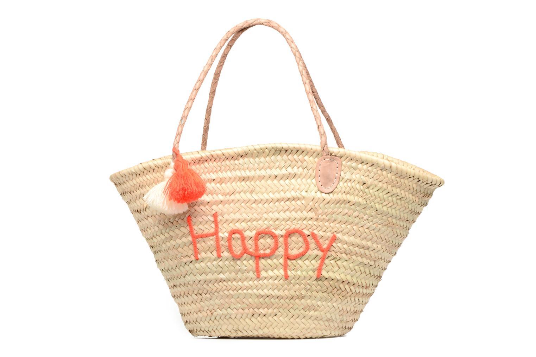 Panier artisanal Happy Orange Fluo