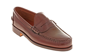 Brown grain leather