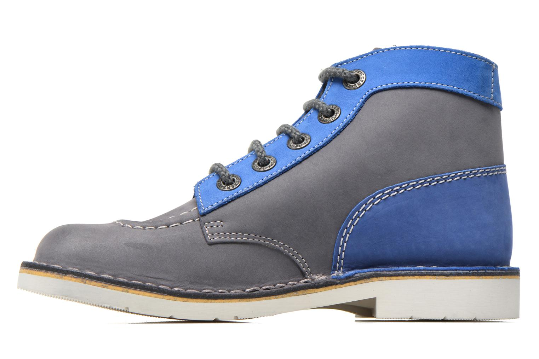Chaussures à lacets Kickers Kick Col Bleu vue face