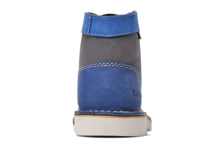 Chaussures à lacets Kickers Kick Col Bleu vue droite