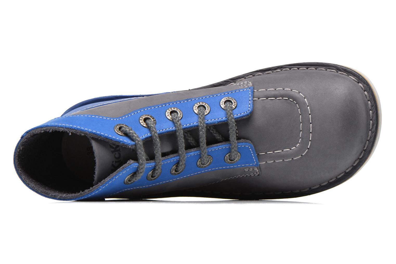 Schnürschuhe Kickers Kick col blau ansicht von links