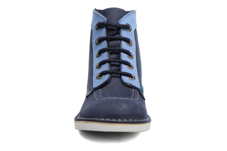 Snøresko Kickers Kick Col Blå se skoene på