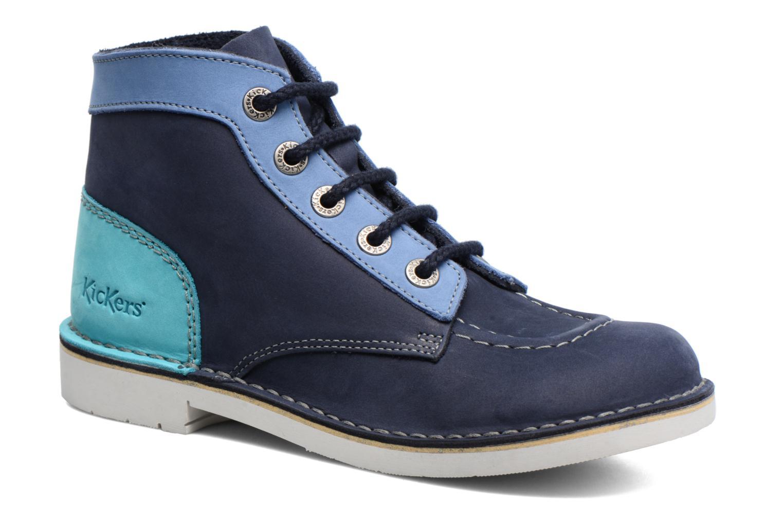 Snøresko Kickers Kick Col Blå detaljeret billede af skoene