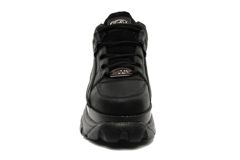 Baskets Buffalo Texas Oil Noir vue portées chaussures