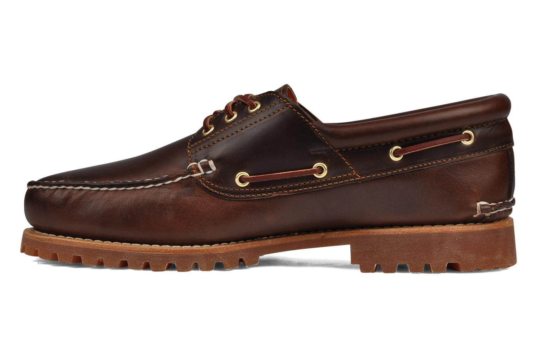 Chaussures à lacets Timberland Authentics FTM 3 Eye Classic Lug Marron vue face