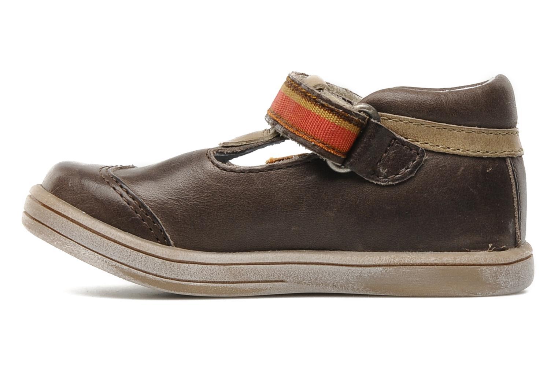 Schoenen met klitteband Kickers Teo Bruin voorkant