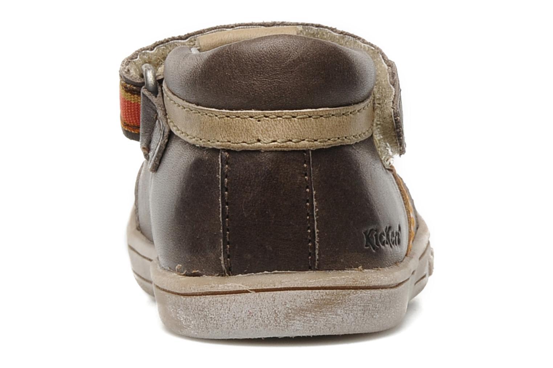 Schoenen met klitteband Kickers Teo Bruin rechts