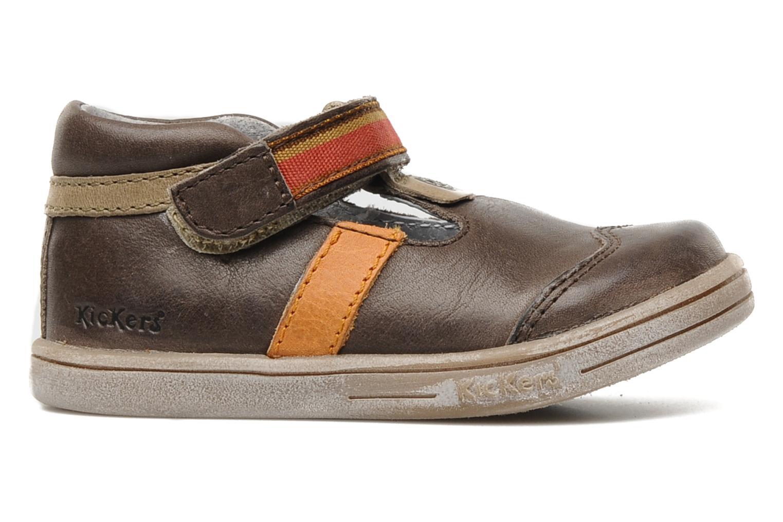 Schoenen met klitteband Kickers Teo Bruin achterkant