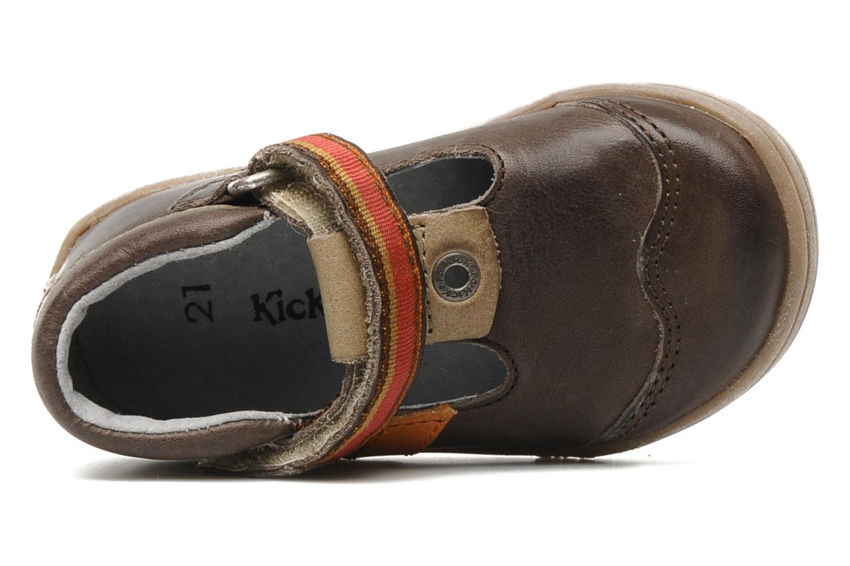 Schoenen met klitteband Kickers Teo Bruin links