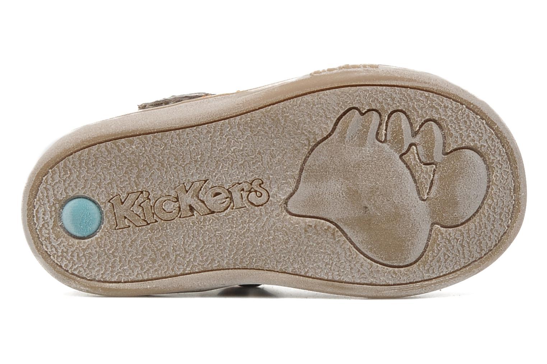 Schoenen met klitteband Kickers Teo Bruin boven