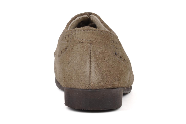 Chaussures à lacets Start Rite Charles Beige vue droite