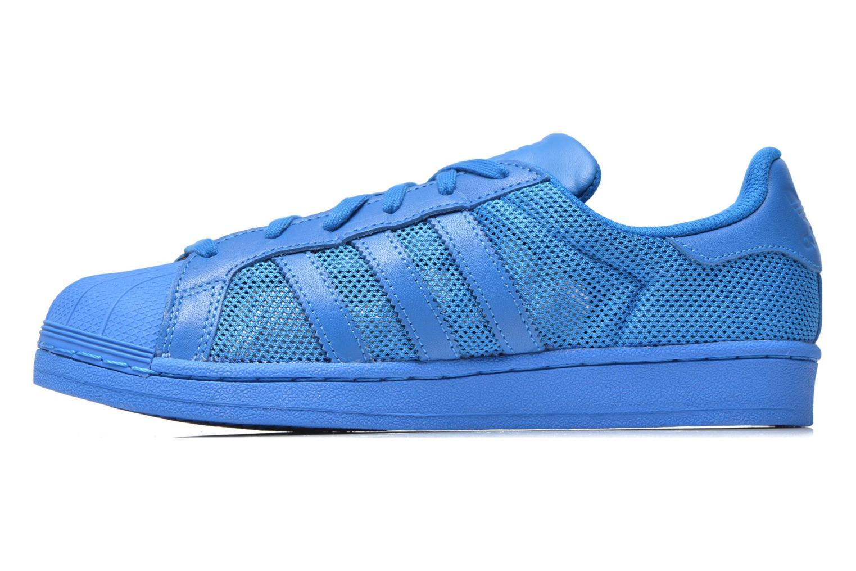 Baskets Adidas Originals Superstar Bleu vue face