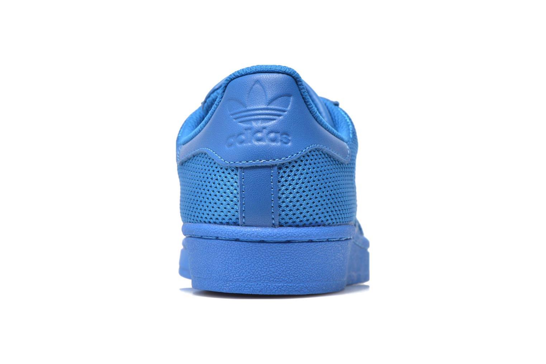 Baskets Adidas Originals Superstar Bleu vue droite