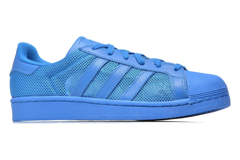 Baskets Adidas Originals Superstar Bleu vue derrière