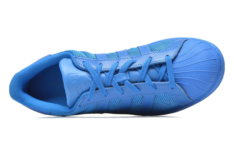Baskets Adidas Originals Superstar Bleu vue gauche