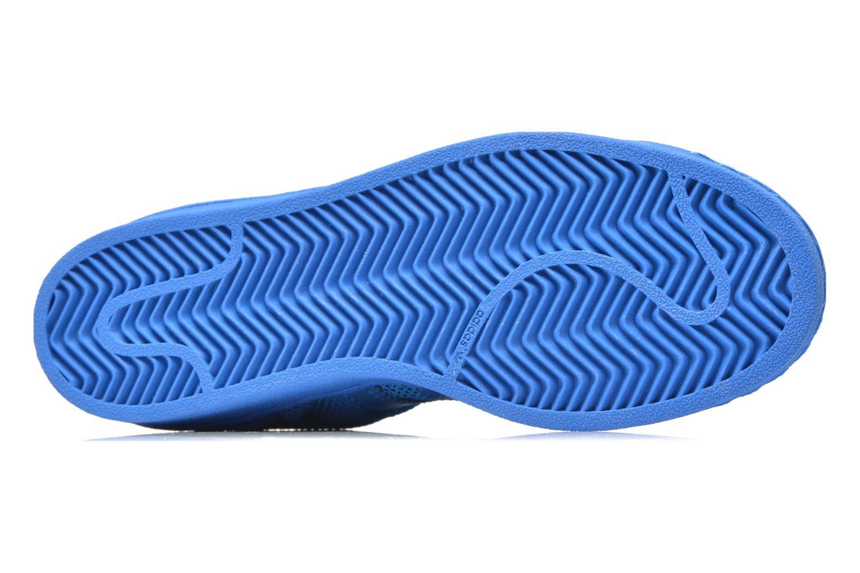 Baskets Adidas Originals Superstar Bleu vue haut