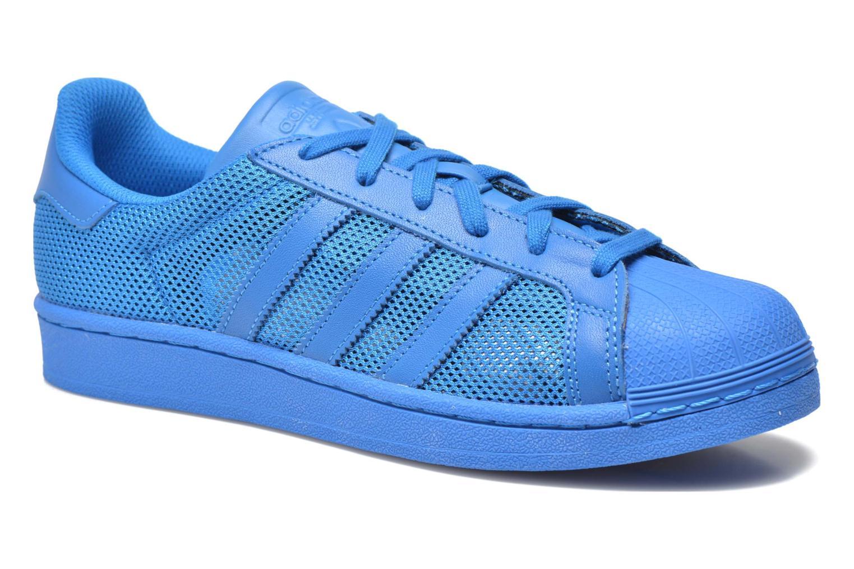 Baskets Adidas Originals Superstar Bleu vue détail/paire