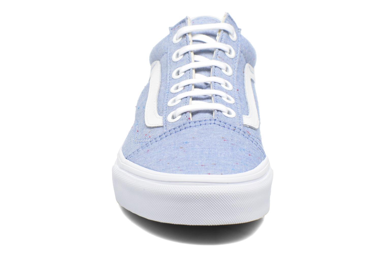 Sneakers Vans Old Skool W Azzurro modello indossato