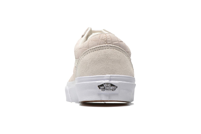 Baskets Vans Old Skool Blanc vue droite