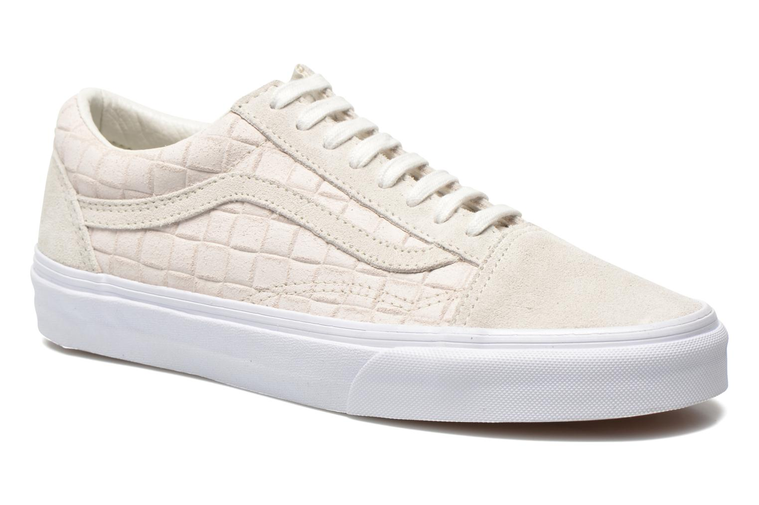 Old Skool (Suede Checkers) White