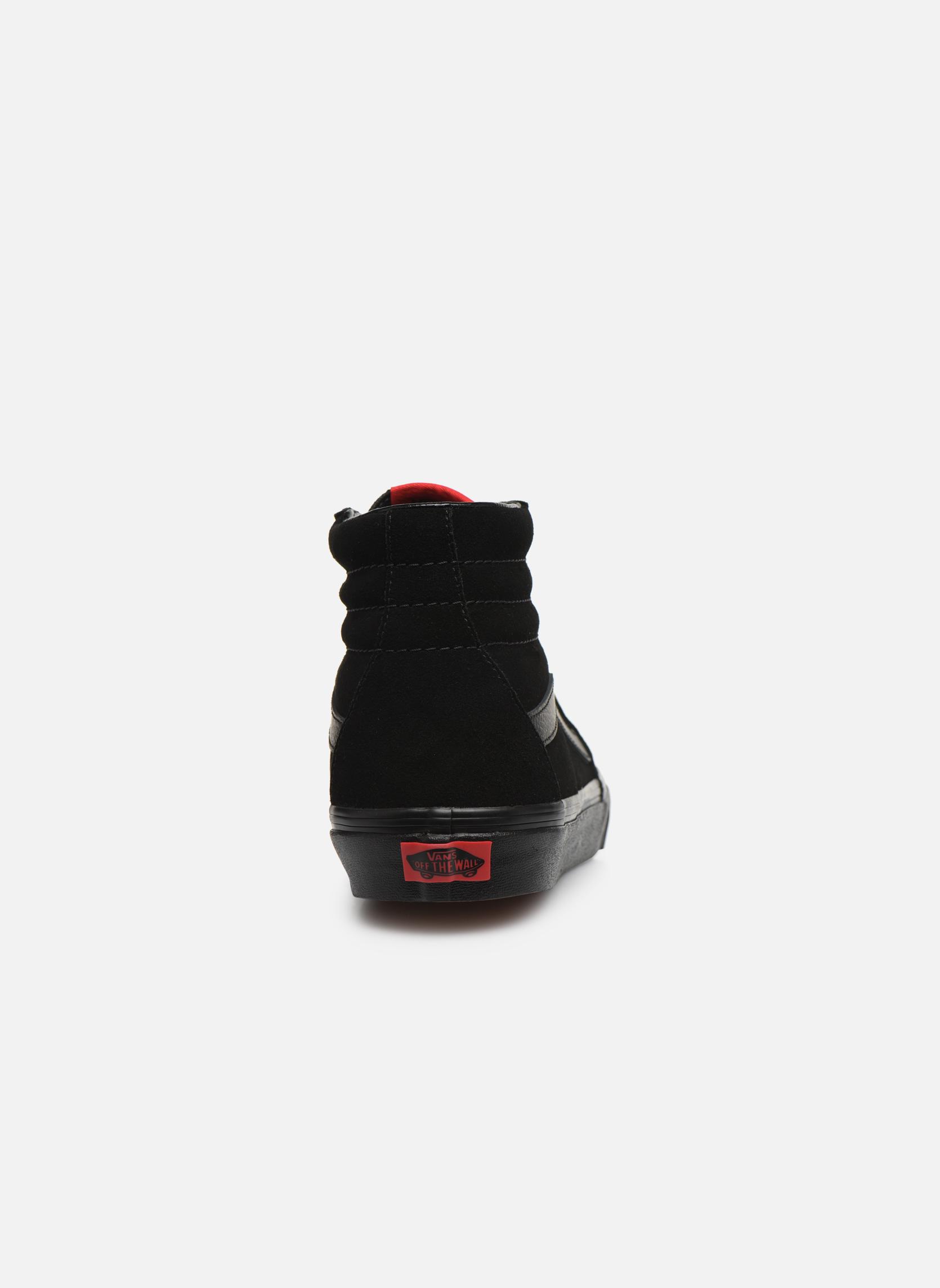 Baskets Vans SK8 Hi M Noir vue droite