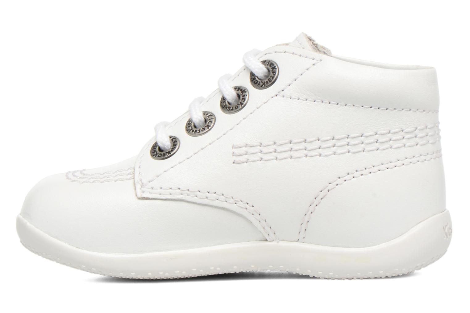 Chaussures à lacets Kickers Billy Blanc vue face